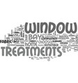 bay window treatments text word cloud concept vector image vector image