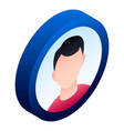 boy avatar icon isometric style vector image vector image