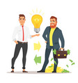 businessman offering an idea vector image vector image