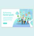 career goals web win of work team award vector image vector image