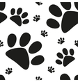 Cartoon cat paw seamless pattern vector image vector image