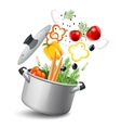Casserole With Vegetables vector image vector image