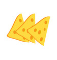 cheese slices collection vector image vector image