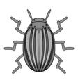 Colorado beetle icon cartoon style vector image vector image