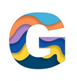 colorful letter g vector image