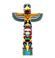 colorful totem pole vector image
