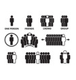 crowd team symbols business people figures group vector image