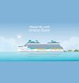 cruise liner passenger ship vector image