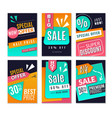 discount posters promotional fashion marketing vector image vector image