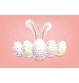 easter eggs realistic spring holiday vector image vector image