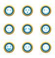 emotional bond icons set flat style vector image vector image