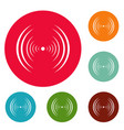 equalizer abstract icons circle set vector image vector image