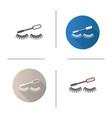 eye mascara icon vector image vector image