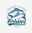 Fishing emblem fishery label lettering