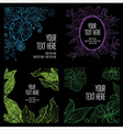 floral back big set 3 grunge vector image vector image