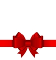 Gift Bow with Ribbon vector image vector image