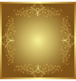 Golden background with floral ornaments vector | Price: 1 Credit (USD $1)