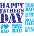 happy fathers day grunge stamp set vector image
