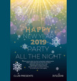happy new year night flyer banner concept vector image