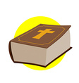 Holy Bible Thick old book with a cross Old and New vector image vector image