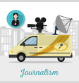 journalism and journalist vector image vector image