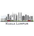 kuala lumpur malaysia city skyline with gray vector image vector image