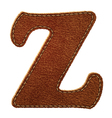 Leather textured letter Z vector image vector image