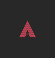 Letter A logo hipster monogram zigzag thin line vector image vector image
