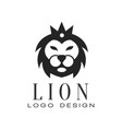 Lion logo design element with wild animal for