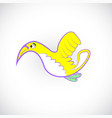 lonely bird vector image vector image