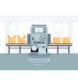 manufacturing warehouse conveyor assembly vector image vector image