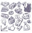 money and banking sketch dollar banknotes vector image