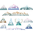 mountains set vector image vector image