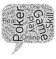 online poker game text background wordcloud vector image vector image