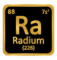 periodic table element radium icon vector image vector image