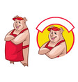 pig waitress in set vector image vector image