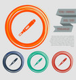 pregnancy test icon on the red blue green orange vector image vector image