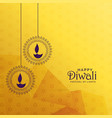 premium diwali greeting card design with diya vector image vector image