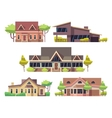 Private residential cottage houses flat vector image vector image