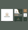 rose home logo design good for business card vector image vector image