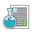 science laboratory flask vector image