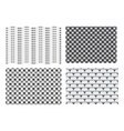 seamless 3d weave metal pattern for texture vector image vector image