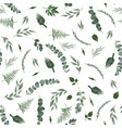 seamless leaves pattern design for banner poster vector image vector image