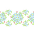seamless pastel flowers brush vector image vector image