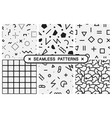 seamless patterns set - memphis design vector image