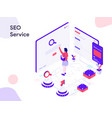 seo service isometric modern flat design style vector image vector image