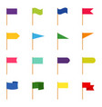 set icons color flags vector image