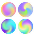 set of gradient circles vector image
