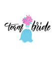 team bride hand drawn bachelorette party hen vector image vector image