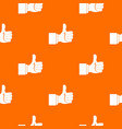 thumb up gesture pattern seamless vector image vector image